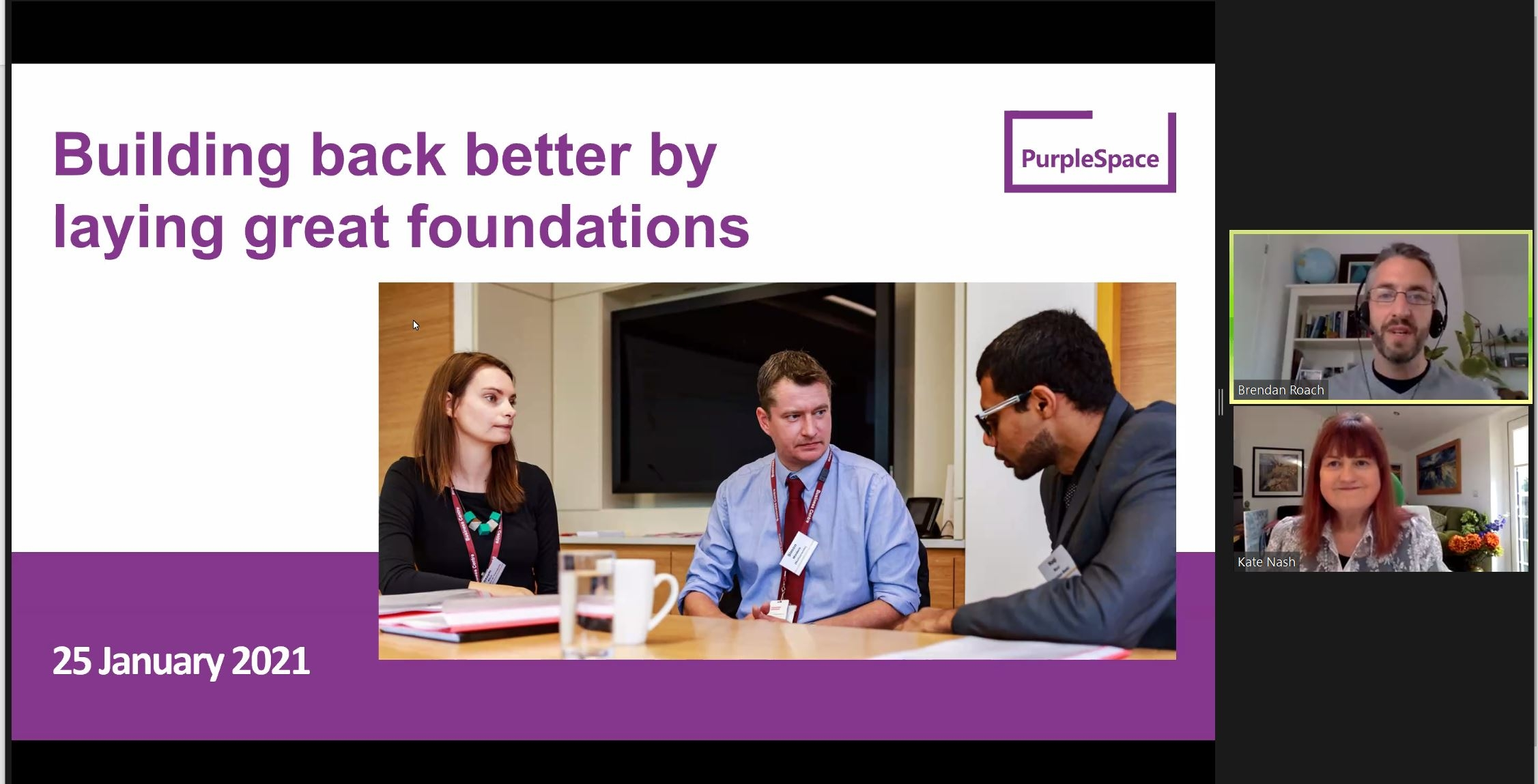 Building Back Better by laying great foundations webinar recording