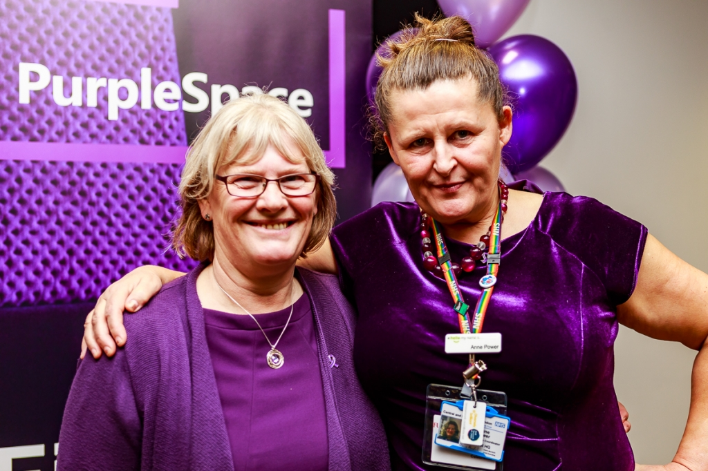 Anne Power (right) with CNWL colleague Jackie Dunn at PurpleSpace event
