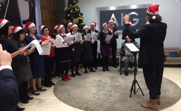 Iowa singing the AIG choir