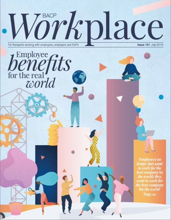 Cover of July BACP Workplace Journal