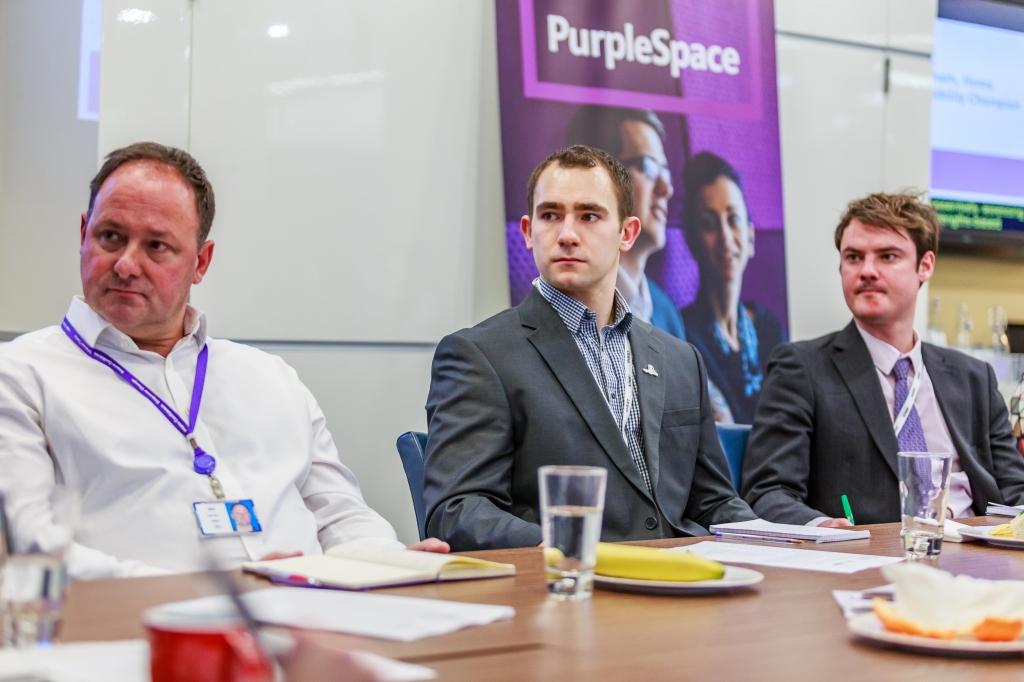 PurpleSpace member at event